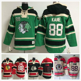 Wholesale Embroidered Sweatshirt Xl - 2016 New, Chicago Black hawks #88 Patrick Kane Cheap Ice Hockey Hoodies & Sweatshirts, Embroidered Numbers and Logos