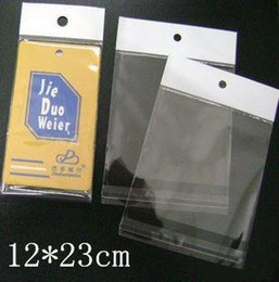 Wholesale Clear Self Adhesive Bags - 12x23cm Clear Retail Hang Hole Package Bag Self Adhesive Seal Poly Opp Plastic Packaging Bag for Mobile Phone Case Electronic Accessories