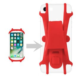 Wholesale Color Bike Handlebars - Silicone Bike Bicycle Handlebar Cell Phone Holder Bracket Mount Bump Protection Adjustable Universal for All Cell Phone