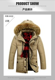 Wholesale Clearance Long Down Coat - Fall-Men's down jacket thick warm coat jacket 2015 men's genuine long winter coat special clearance casual jacket collar Nagymaros