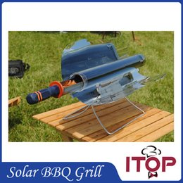 Wholesale Camp Ovens - New Arrivals! Solar Oven Green BBQ Grill Barbecue Stove Folding Camping Picnic Heater Kebab Roast