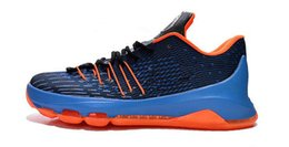 Wholesale Shoes Tick - Wholesale cheap Kevin Durant KD 8 Basketball Shoes V8 Bright Crimson With Tick KD8 Sports Shoes Discount Leather Men s Basketball Sneakers