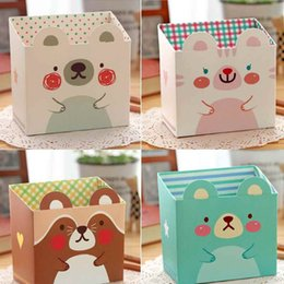 Wholesale Eco Stationery - Beauty Paper Board Storage Box DIY Makeup Cosmetic Stationery Pen Box Desk