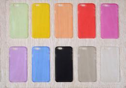 Canada Nouveaux étuis souples givrés 0.3 mm cas ultra minces de téléphone pour l'iphone 6 6plus 5S 4S Samsung Galaxy S3 S4 S5 S6 Offre