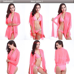 Wholesale Dresses Sirens - 2016 New sexy changed beach dress bikini three-piece high elastic gauze siren magic tees in holiday dress more gift DHL Free shipping 100pcs