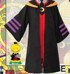 Wholesale Game Tie - Japanese Anime Costumes Cosplay Assassination Classroom Korosensei Costume Black Cloak+ Red Waist Coat +Black Tie per Set