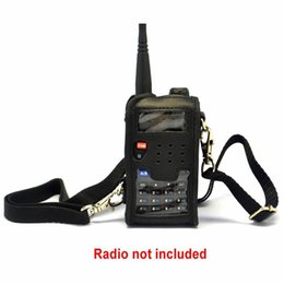 Wholesale Th Leather - Wholesale-Radio Soft Leather Case Pouch Protector For BAOFENG UV-5R UV-5RE Plus UV-5RA UV-5RC TYT TH-F8 10pcs lot