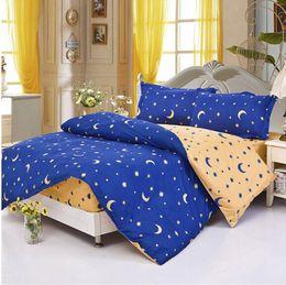 Wholesale Twin Stars - Wholesale-5designes Mattress sweet cover moon and star color duvet cover comforter bedding set pillow case cover set bed linen