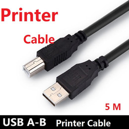 Wholesale Usb Printers - USB 2.0 High Speed Cable Printer Lead A to B Long Black Shielded connect USB devices For printers, scanners external hard disk