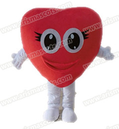 Wholesale Heart Costumes Adults - AM5232 red heart mascot costume Fur mascot suit advertising mascot outfit adult fancy dress