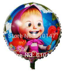 Бесплатная доставка 50 шт. / лот 18 дюймов алюминиевая фольга шар Маша гелий шар праздничные принадлежности от