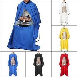 Wholesale Haircut Cloth - New 1pcs Waterproof View Window Transparent Barber Salon Cloth Hairdresser Haircut Styling Tools Cape Wrap Hot