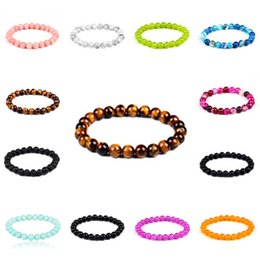 Wholesale Fashion Beaded Bracelets - Natural stone Volcano bracelet Fashion Wholesale Natural lava volcano amethyst stone colorful Beaded Bracelet bangle 162531
