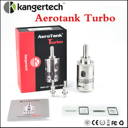 Wholesale dual coil 6ml - Aerotank Turbo atomizer wth dual coil kangertech aero tank Turbo airflow control atomizer with huge 6ml capacity atomizer