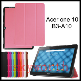 Wholesale Acer Iconia Cover China - For Acer Iconia One 10 B3-A20 B3-A10 B1-770 A3-A30 A3-A20 B1-810 B1-820 B1-750 B1-850 Folio Flip leather case Ultas Slim Smart Cover