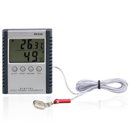 Wholesale Retail Display Package - Digital Thermometer Hygrometer Temperature & Humidity Meter for indoor & outdoor LCD display HC520 in retail package 50pcs lot