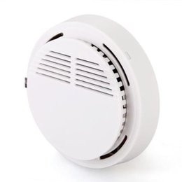 Wholesale Wireless Home Alarm Wholesale - HOT! Stable Photoelectric Wireless Smoke Detector for Fire Alarm Sensor with 6F22 Battery Home Security Best Price Best Sale