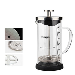 Wholesale Tea Infusers Pots - With Degree Scale Tea Infuser For Home Filter Pressure Type Teapot Clear Thickening Glass Coffee Press Pot Durable 29fy B