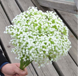 Wholesale Gypsophila Paniculata - Wholesale-New Baby's Breath Gypsophila Paniculata Plastic Artificial Flowers for Wedding Decors Bouquets Home Decorations Free Shipping