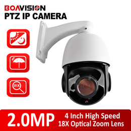 Wholesale Dome Ir Cameras - Outdoor Waterproof 4.7- 84.6mm Optical Zoom Onvif P2P CCTV 1080P Mini 4 Inch High Speed Dome PTZ IP Camera 2MP HD CMS Mobile View IR 80M