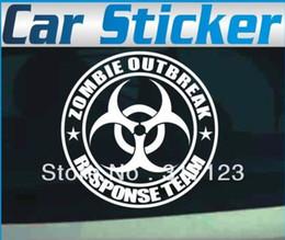 Wholesale Car Body Graphics - ZOMBIE OUTBREAK RESPONSE TEAM Car Sticker Funny Vinyl Graphics Decals Window JDM