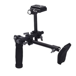 Wholesale Camera Stabilizer Rig - DSLR video camcorder handle shoulder support stabilizer rig quick release plate for Digital video Camera DVD.