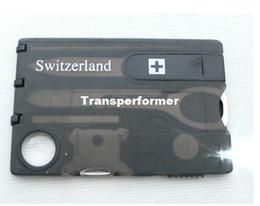 Wholesale Multi Tool Business Card - Swizerland 12 IN 1 Credit Card Tool Knife Blade Business Card Knife Card(OEM) 10 pcs lot