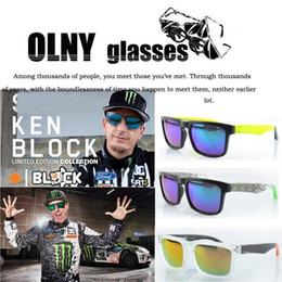 Schlangen-sonnenbrille online-KEN BLOCK HELM Cycling Sports Sunglasses Outdoor Brand Black Skin Snake OPTIC HELM Ken Block Sunglasses 50 pcs DHL free shipping