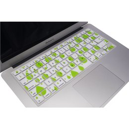 "Wholesale Macbook Pro Keyboard Cover White - Wholesale-Green and White Durable Ultra Thin Backlit Keyboard Protector Cover Silicone Skin for Macbook Pro 13""15""17"""