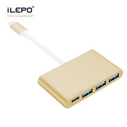 Wholesale Computer Usb Hubs - Quality Aluminium type c HUB usb 3.0 Fast Speed 3 Ports Notebook Computer Splitter Extender for Tablet Peripherals Apple Air Macbook