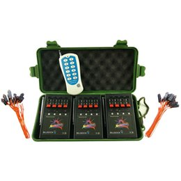 Wholesale Party Fire - Free Shipping+12 Cue Wireless Firework Firing Ignition System stage effect w  Remote & 24 FREE Talon Igniters for wedding party