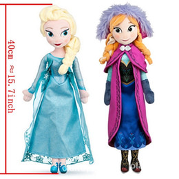 Wholesale Cheap Toy Figures - frozen dolls 40cm elsa anna frozen plush doll action figures plush toy dolls free shipping Cheap Christmas Gift