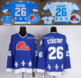 Wholesale Hi Ice - 2016 New, Hi-Q Men's Quebec Nordiques 26 jerseys Peter Stastny CCM Throwback Classic Vintage Authentic Hockey Jersey