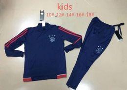Wholesale express s - top quality 2017 2018 kids Ajax Football jacket tracksuit 17 18 KLAASSEN de foot NOURI DOLBERG YOUNES jacket Training suit Free Express