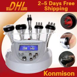 Wholesale Professional Ultrasonic Machine - Ultrasonic Cavitation Radio Frequency Vacuum Weight Loss Slimmming Machine 5 In 1 Multifunction Professional Slimming Equipment For Salon