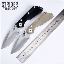 Wholesale Best Knife Blade Steel - Hot sales 5trider SMF Black G10 Handle 7Cr17 Wov Tactical Survival Folding Knife MSC Stainless Steel Blade Best quality