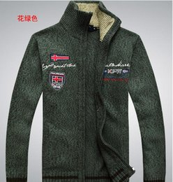 Wholesale Cardigan Sweater Gray - Men's wool sweater, fashion embroidery warm the cardigan sweater. (M42)