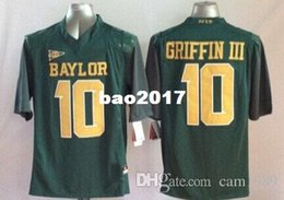 Wholesale Football Bearing - New Baylor Bears Men Jersey 10# Rebort Griffin III Mens College Football Jerseys Green