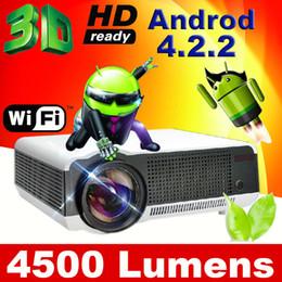 WIFI Android LED86 Светодиодный проектор 3D-проектор True 4500Lux Full HD Bluetooth Бизнес-реклама Образование 3D-проектор от