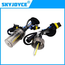 Wholesale 55w Bulbs H7 Replacement - 1Pair 12V 55W H7 HID Xenon Replacement Headlamps Bulbs H1 H3 H7 H8 H9 H11 9005 9006 Fast Bright 5500K