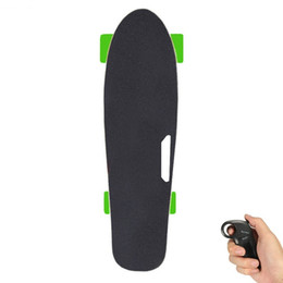 Wholesale Electric Scooter Hub Motor Kit - 2017 New Electric Skateboard Green With Remote Control E Skateboard Adult Scooter Kit Motorized Hub Small Fish Plate Skate Board One Motor
