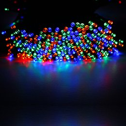 Wholesale christmas decoratio - Wholesale- 200 Lights 22Meters Solar Lights Series LED Christmas lights string Led Copper Christmas Festival Wedding Party Decoratio