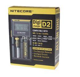 Canada Top Qualité Nitecore D2 Chargeur de Batterie Numérique Universel Intelligent LCD Affichage Pour Sony VTC5 18650 30A Samsung LG 18650 Batterie Offre