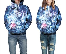 Wholesale Colorful Watercolor - Stylish Sweatshirts Men Women 3d Sweatshirt Print Watercolor Colorful Blocks Lion Thin Hooded Hoodies Top 71