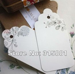 Wholesale Printed Paper Tags - Flowery printing DIY Unique Cards,bookmarks,paper tags 100pcs lot