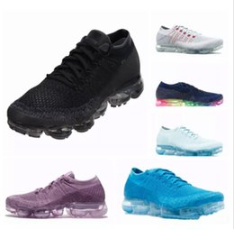 Wholesale Fashion Weaves - New VaporMax Running Shoes Weaving racer Ourdoor Athletic Sporting Walking Sneakers for Women Men Fashion pink Casual maxes Size 36-45