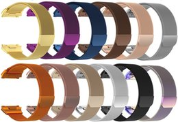 Wholesale Loop Bracelets - Colorful Magnetic Milanese Loop Metal Band For Fitbit Charge 2 Blaze Fitbit AlTA HR Wristband Stainless Steel Watch Bracelet Mesh Strap
