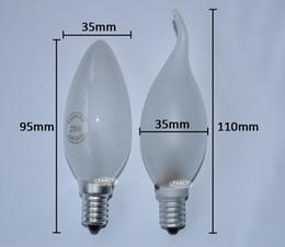 Wholesale E14 Led Candel Bulb - Wholesale-LED Edison Filament Bulb 220V bombillas E14 C35 Candel Light Bulb 25W 360 Degree Energy Saving lampada LED Decorative light
