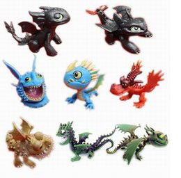 Wholesale Dragon Dolls - How to Train Your Dragon 2 PVC Action Figures Toy Doll Night Fury toothless dragon 8pcs set