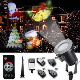Wholesale Remote Pattern - UL Christmas LED Projector Light with 16 Patterns Slides Waterproof Landscape RF Remote Control Spotlight for Halloween Holiday Party Garden